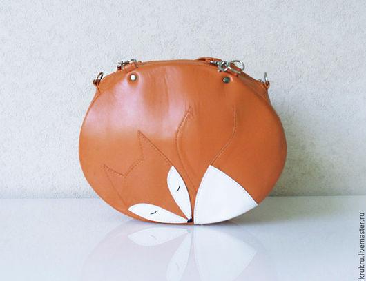 Женские сумки ручной работы. Ярмарка Мастеров - ручная работа. Купить Сумка Лиса с толщиной. Handmade. Рисунок, необычная сумка