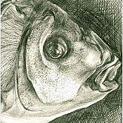 Картины и панно ручной работы. Ярмарка Мастеров - ручная работа Рисунок карандашом Что день грядущий мне готовит. Handmade.