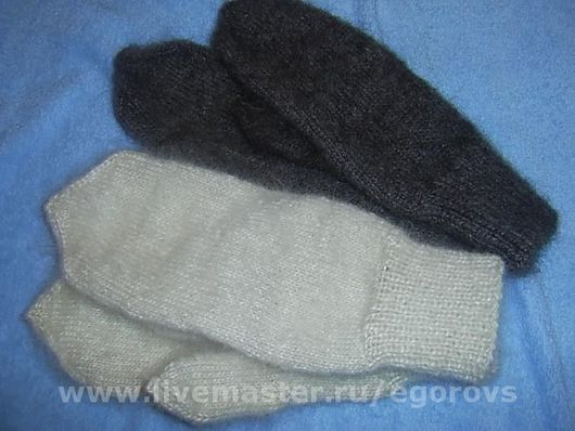 Варежки, митенки, перчатки ручной работы. Ярмарка Мастеров - ручная работа. Купить Варежки для настоящих мужчин. Handmade. Пуховые, теплые