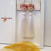 Свадебный салон handmade. Livemaster - original item A delicate vanilla tassel with openwork bead. Handmade.
