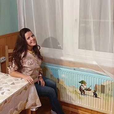 Дизайн и реклама ручной работы. Ярмарка Мастеров - ручная работа Роспись радиатора Гном. Handmade.
