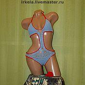 Одежда ручной работы. Ярмарка Мастеров - ручная работа Вязаный купальник №7, трикини,. Handmade.