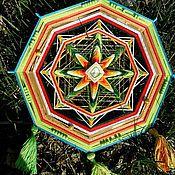 """Фен-шуй и эзотерика ручной работы. Ярмарка Мастеров - ручная работа Живая шаманская мандала """"Гаятри Защита Процветание Духовность"""". Handmade."""