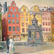 Картины и панно ручной работы. Ярмарка Мастеров - ручная работа Центр Стокгольма. Handmade.