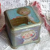 """Для дома и интерьера ручной работы. Ярмарка Мастеров - ручная работа Шкатулочка """"Маленькие ангелочки"""". Handmade."""