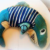 Куклы и игрушки ручной работы. Ярмарка Мастеров - ручная работа игрушка акула-кит. Handmade.