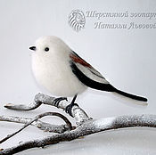 Куклы и игрушки handmade. Livemaster - original item Long-tailed Tit, interior bird Polovnik felted wool. Handmade.