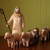 Для дома и интерьера ручной работы. Ярмарка Мастеров - ручная работа Пастух и овечка. Handmade.