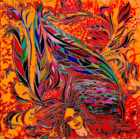"""Фантазийные сюжеты ручной работы. Ярмарка Мастеров - ручная работа. Купить птица """"Гамаюн"""". Handmade. Декоративное, украшение для интерьера"""