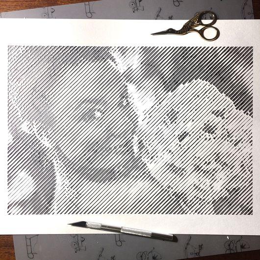 Люди, ручной работы. Ярмарка Мастеров - ручная работа. Купить 3д-портрет ручной резки по бумаге. Handmade. Papercutting