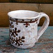 Посуда ручной работы. Ярмарка Мастеров - ручная работа Чашка керамическая 1 Вепсские мотивы. Handmade.