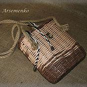 Сумки и аксессуары ручной работы. Ярмарка Мастеров - ручная работа Плетеная сумка-корзина. Handmade.