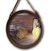 Для дома и интерьера ручной работы. Ярмарка Мастеров - ручная работа Капитанское зеркало 50 см диаметр. Handmade.