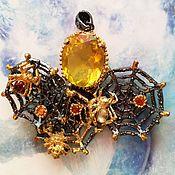 Украшения handmade. Livemaster - original item Gold web pendant with Golden citrine. Handmade.