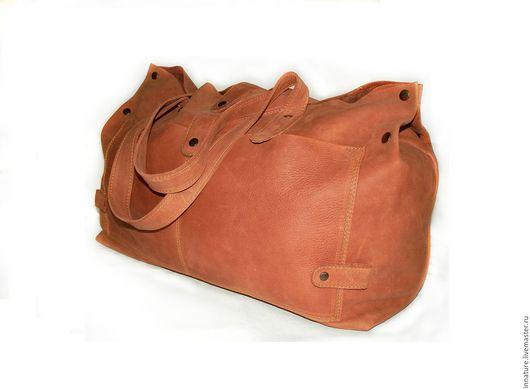"""Женские сумки ручной работы. Ярмарка Мастеров - ручная работа. Купить Сумка ,большая, натуральная кожа,   """"Рыжая''. Handmade. Рыжий"""