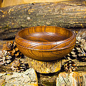 Посуда handmade. Livemaster - original item Deep Dish Bowl Siberian Elm the Candy bowl Kitchenware wooden #T44. Handmade.
