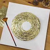 Картины ручной работы. Ярмарка Мастеров - ручная работа Картина фактурная в смешанной технике «Золотой круг». Handmade.
