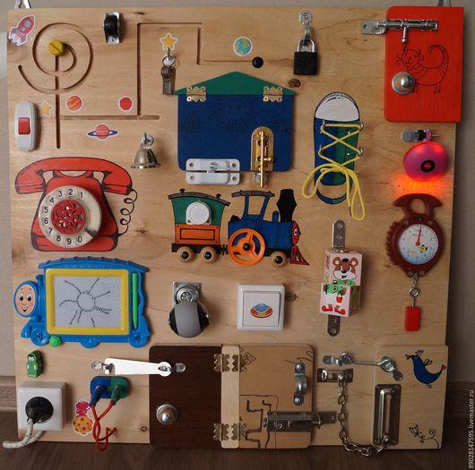 Развивающие игрушки ручной работы. Ярмарка Мастеров - ручная работа. Купить РАЗВИВАЮЩАЯ ДОСКА бизиборд. Handmade. Комбинированный, развивающие игры