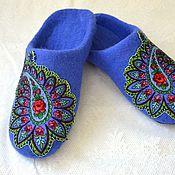 Обувь ручной работы. Ярмарка Мастеров - ручная работа тапочки-шлепки из шерсти. Handmade.