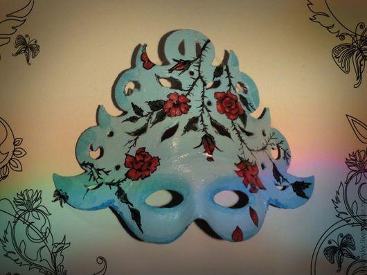 Карнавальные костюмы ручной работы. Ярмарка Мастеров - ручная работа. Купить Карнавальная маска Голубая роза. Handmade. Голубой, цветочный