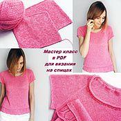 Материалы для творчества handmade. Livemaster - original item Master class on knitting a pink tube top on the spokes. Handmade.