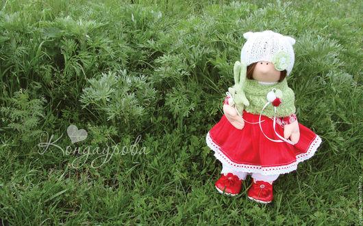 Куклы тыквоголовки ручной работы. Ярмарка Мастеров - ручная работа. Купить ШУРОЧКА или Александра. Handmade. Ярко-красный, кукла