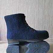 Обувь ручной работы. Ярмарка Мастеров - ручная работа Войлочные ботинки Полярная ночь. Handmade.