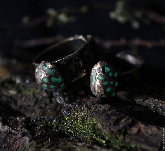 """Кольца ручной работы. Ярмарка Мастеров - ручная работа. Купить Кольца """"Улья"""" (VI). Handmade. Комбинированный, безразмерное кольцо, патина"""