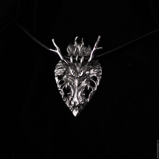 """Кулоны, подвески ручной работы. Ярмарка Мастеров - ручная работа. Купить Подвеска """"Дракон"""". Handmade. Серебряный, голова дракона"""