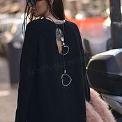 Одежда ручной работы. Ярмарка Мастеров - ручная работа Черное кашемировое платье HUGGE STYLE. Handmade.