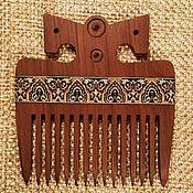 Сувениры и подарки handmade. Livemaster - original item Wooden comb for hair inlay mosaic