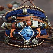 Украшения handmade. Livemaster - original item Leather bracelet on the hand boho style