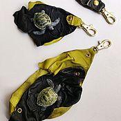 Сумки и аксессуары handmade. Livemaster - original item 3D Key rings made of genuine leather