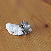 Украшения ручной работы. Ярмарка Мастеров - ручная работа Серебряное кольцо с гранатом. Handmade.