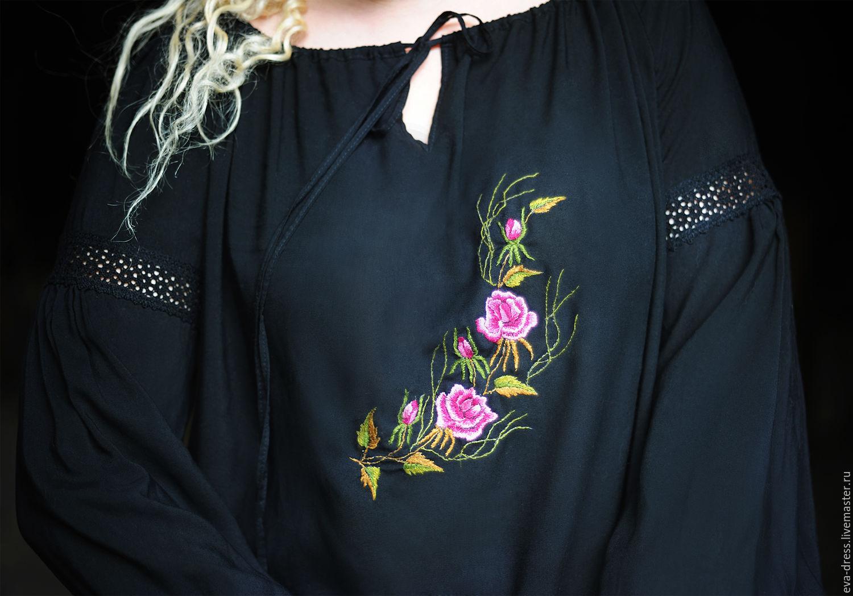 Вышивка на блузках 725