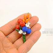 Украшения ручной работы. Ярмарка Мастеров - ручная работа Брошу бутоньерка с ягодами из полимерной глины. Handmade.