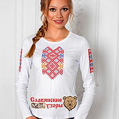 Одежда handmade. Livemaster - original item T-shirt with embroidery