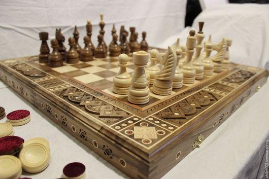 Настольные игры ручной работы. Ярмарка Мастеров - ручная работа. Купить Шахматы. Handmade. Шахматы, шахматы в подарок, нарды, дерево