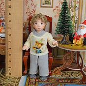 Куклы и игрушки ручной работы. Ярмарка Мастеров - ручная работа Кукла миниатюрная  подвижная 8,5 см.. Handmade.