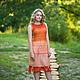 """Платья ручной работы. Ярмарка Мастеров - ручная работа. Купить Платье """"Оrange"""" бохо.. Handmade. Оранжевый, бохо"""