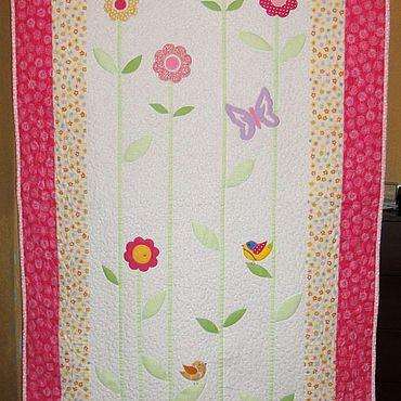 """Текстиль ручной работы. Ярмарка Мастеров - ручная работа """"Запах лета"""". Лоскутное покрывало на кровать.. Handmade."""