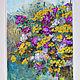 Картины цветов ручной работы. Ярмарка Мастеров - ручная работа. Купить Полевые цветы. Handmade. Комбинированный, цветы, окно, акрил