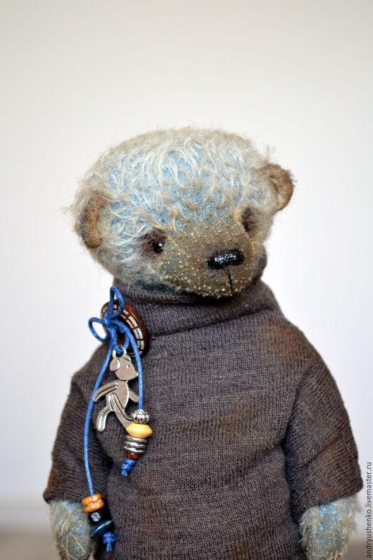 Мишки Тедди ручной работы. Ярмарка Мастеров - ручная работа. Купить Тедди медведь Роберт. Handmade. Голубой, медведь тедди