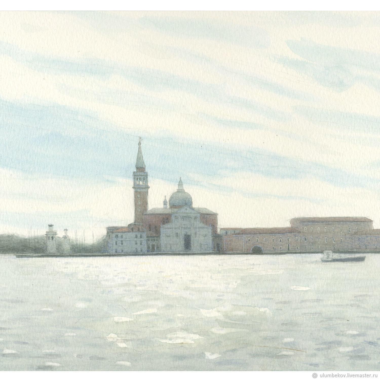 """Картины в интерьере спальни """"Венеция."""" Картины акварелью, Pictures, Moscow,  Фото №1"""