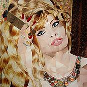 Картины и панно handmade. Livemaster - original item The picture of the cigar label/ cigar, bow-Brigitte Bardot. Handmade.
