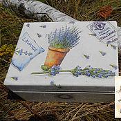 Для дома и интерьера ручной работы. Ярмарка Мастеров - ручная работа Деревянная шкатулка в стиле Прованс. Handmade.