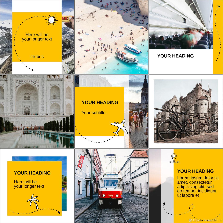 Дизайн шаблонов для постов и сториз аккаунта Инстаграм, хайлайтс, Дизайн, Москва,  Фото №1