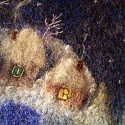 """Сумки и аксессуары ручной работы. Ярмарка Мастеров - ручная работа сумка """"Родное"""" зимняя авторская сумка ручной работы, с домиками. Handmade."""