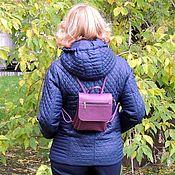 Сумки и аксессуары handmade. Livemaster - original item Backpack small leather female purple Kira Mod R64-181. Handmade.