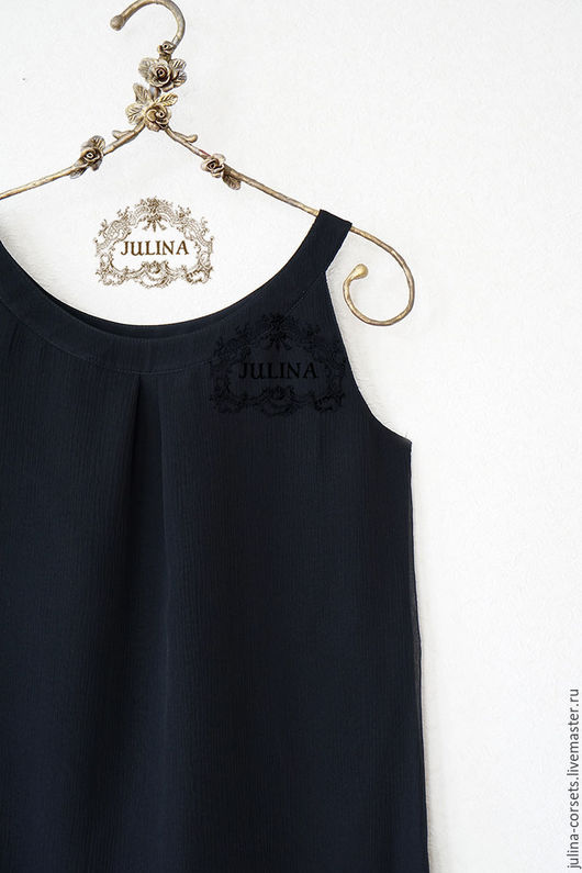 """Блузки ручной работы. Ярмарка Мастеров - ручная работа. Купить Блузка шелковая """"Черная жемчужина"""". Handmade. Черный, классическая блузка"""